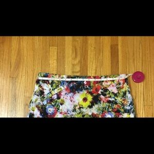 Chelsea & Theodore Skirts - Chelsea and Theodore floral lined mini skirt